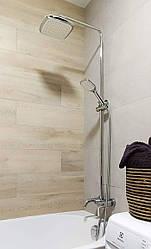 BILA DESNE система душова (змішувач для ванни, верхній та ручний душ 3 режими, шланг 1,5 м)
