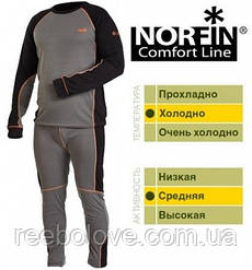 Термо белье Norfin Comfort Line/серое (1слой) XXL