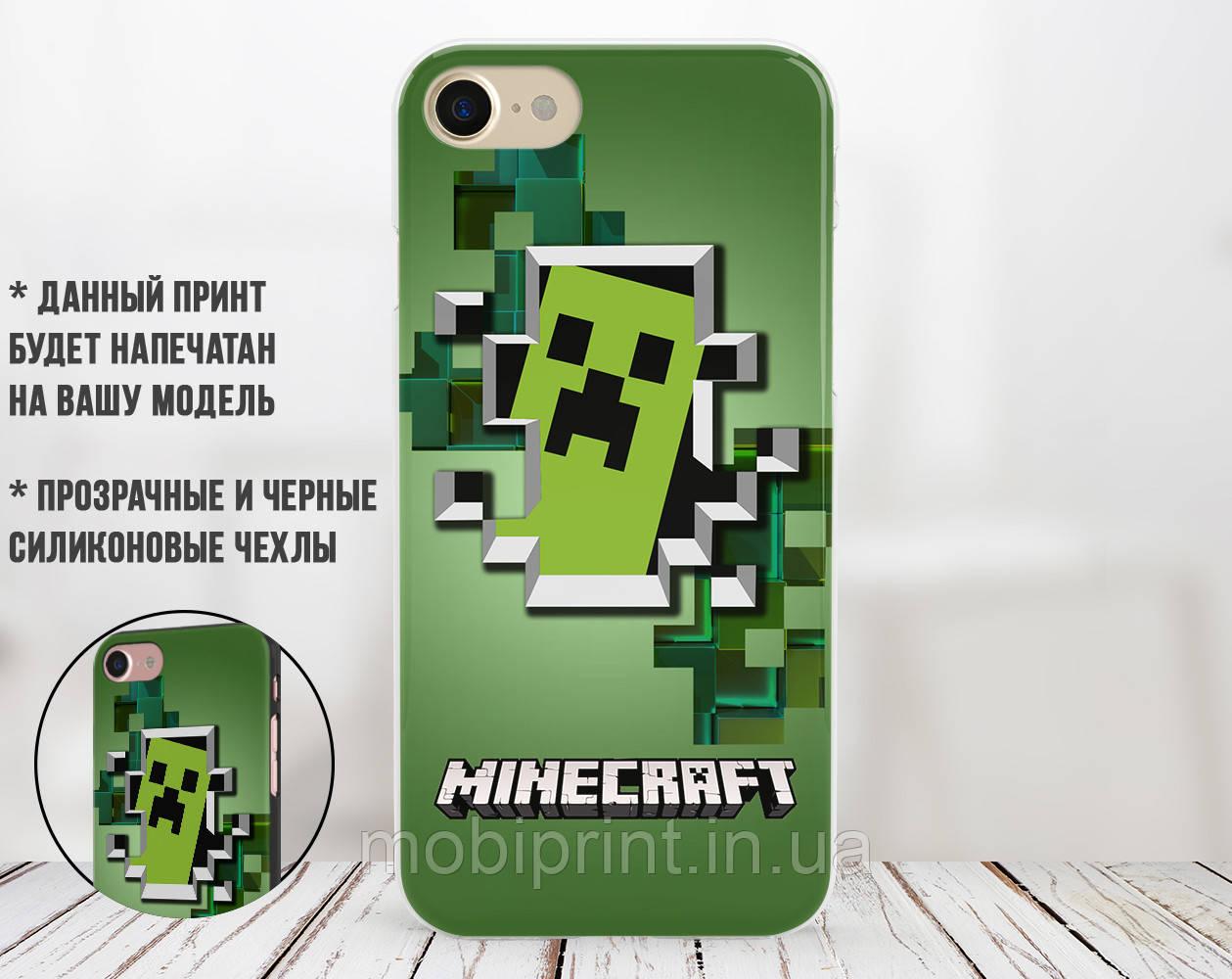 Силиконовый чехол Майнкрафт (Minecraft) для Samsung N986 Note 20 Ultra