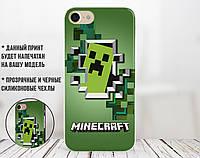 Силиконовый чехол Майнкрафт (Minecraft) для Xiaomi Mi 8 Lite