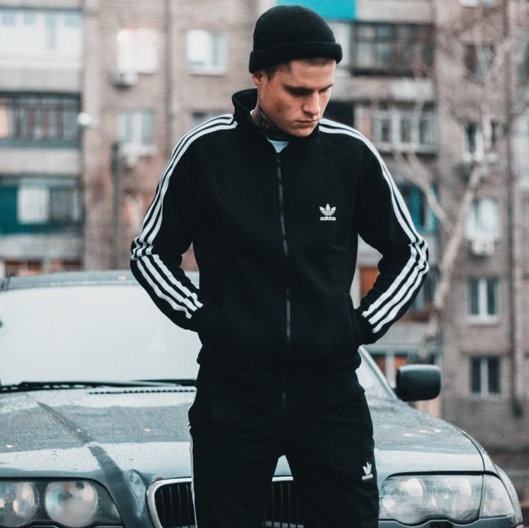 Мужская олимпийка бомбер Adidas, чоловіча олімпійка Адідас, ветровка кофта Адидас