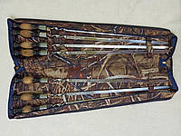 Набор шампуров качественный, подарочный, ручной работы, в чехле - 7 штук., фото 1