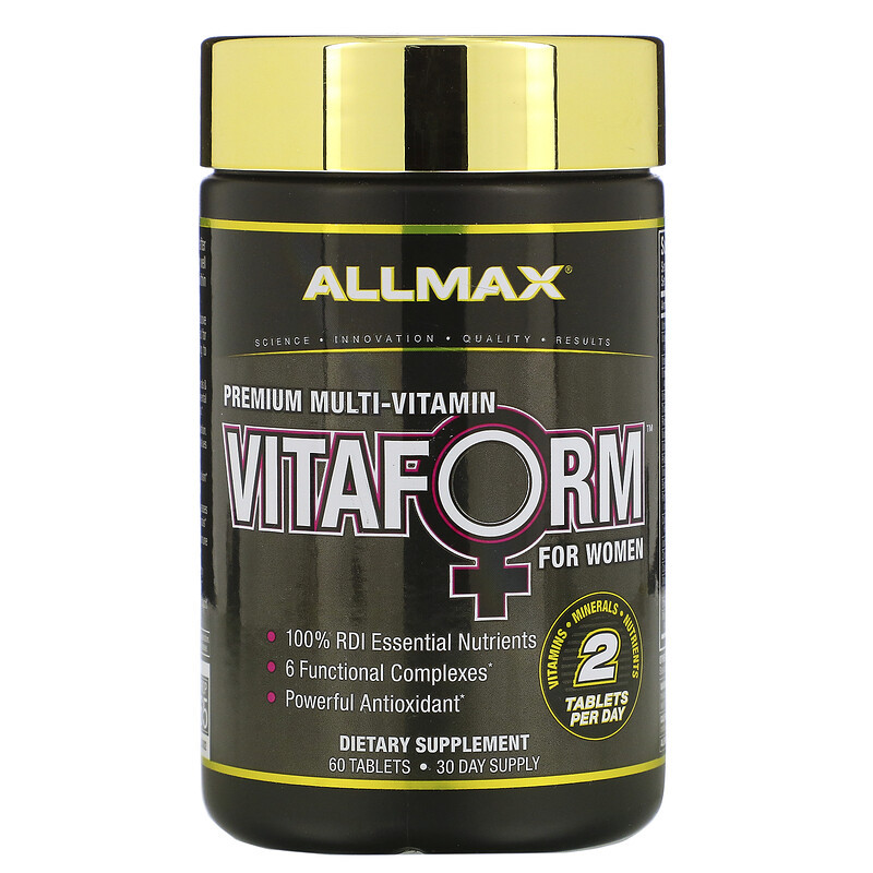 ALLMAX Nutrition Vitaform for women, 60 таблеток.Витамины для женщин.