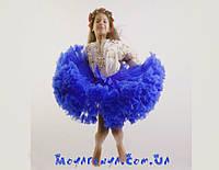 Пышная детская юбка pettiskirt синяя