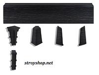Плинтус напольный пластиковый Dekor Plast LL028 венге темный