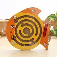 Магнитный лабиринт, деревянные игрушки,деревянные игрушки развивающие,сотер,игрушки для малышей,развивающие