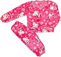 Теплая махровая пижама для девочки р.26,28,30,32