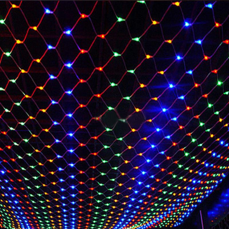 Уличная LED Гирлянда Сетка 4х2м зеленый провод IP65