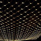 Уличная LED Гирлянда Сетка 4х2м зеленый провод IP65, фото 5