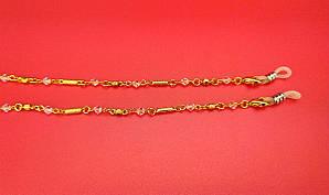 Шнурок Ц28 (желтая с розовым камнем)