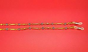 Шнурок Ц28 (желтая с голубым камнем)