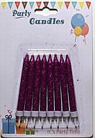 Свечи для торта с  глиттером 8шт/уп