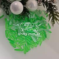Стрази фігурні 3*11 Neon green 20шт №04
