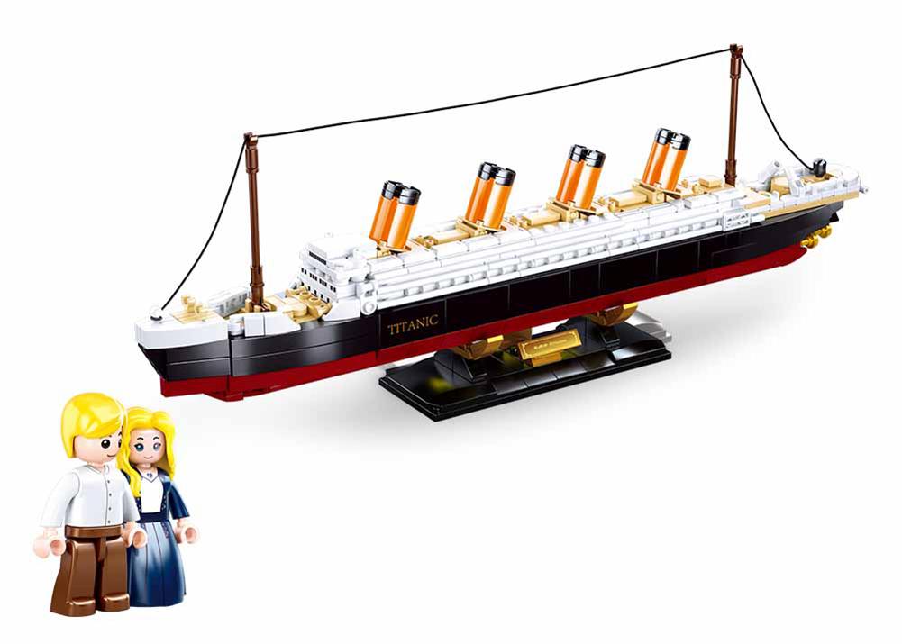 "Конструктор Sluban M38-B0835 ""Пассажирский лайнер Титаник"" (масштаб 1:700), 481 дет"