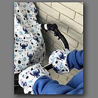 Муфта для рук на коляску (принт) арт. ВК003МК