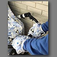 Муфта для рук на коляску (принт) арт. ВК004МК