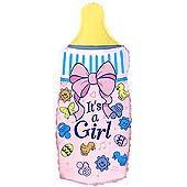 """Кулька 36"""" фольгована фігура на виписку для дівчинки """"Пляшечка, It's a Girl"""" ТМ """"Flexmetal"""" шт."""