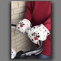 Муфта для рук на коляску (принт) арт. ВК005МК