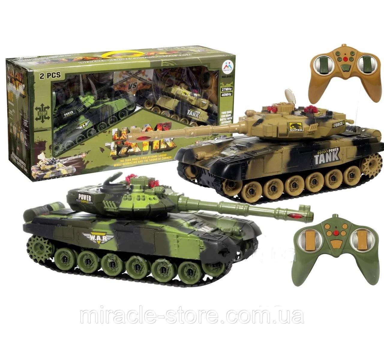 Танковый бой 9993 два танка на радиоуправлении