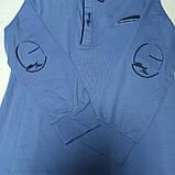 Рубашка модная красивая нарядная трикотажная для мальчика. Стильная и оригинальная., фото 2