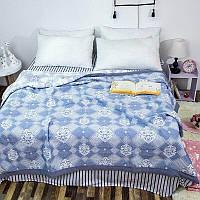 Льняное покрывало 200*230см   Покрывало лён евро размер   Покрывало Льняное на кровать