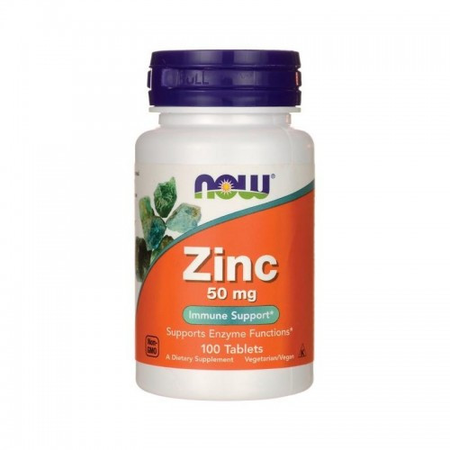 Now Foods Zinc 50 mg 100 таблеток. Цинк глюконат.