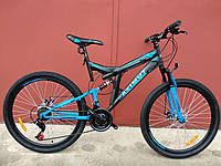 Взрослый горный велосипед Azimut Power 26 дюймов Азимут Павер черно-синий
