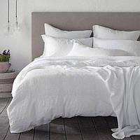 Двоспальне постільна білизна бязь люкс 0334 біле 50х70(р) навол.2шт, 175х210-1шт подод, 200х220-1шт простий.