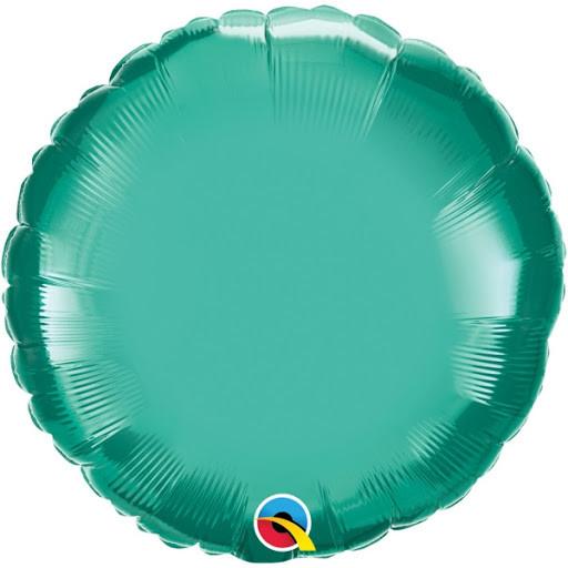 """Кулька 18"""" круг фольгована зелена ТМ """"Агура"""" однотонний шт."""
