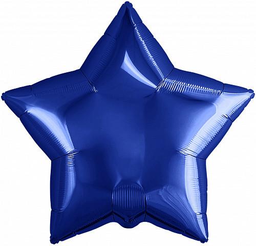 """Кулька 18"""" зірка фольгована, темно синя, ТМ """"Агура"""" однотонний шт."""