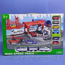 Железная дорога с транспортом и аксессуарами 888-6, фото 2