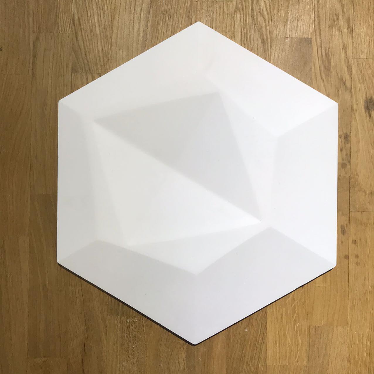 """Декоративные гипсовые 3D панели Gipster """"Сота Узор"""" Белый 370*320*15 мм"""