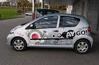 Молдинги дверей Toyota Aygo