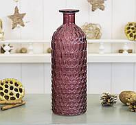Ваза Джесси тёмно- розовое стекло h25см  7056000- 4 тёмно-роз