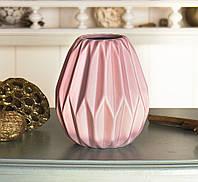 Ваза d12см розовая керамика  1016814-3Р