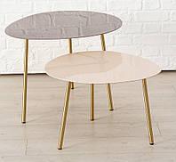 Журнальный столик Вилана металл розовый h47см w59см  1017730-1Б