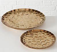 Набір 2х підносів кераміка золото 2002502