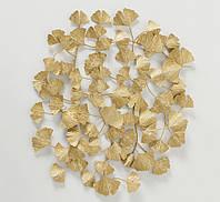 Настенный декор Гинкго метал золото w75см  2003722