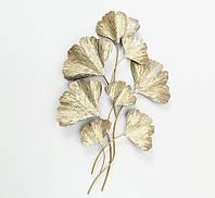 Настенный декор Гинкго металл золото 61*95*5см  1019893