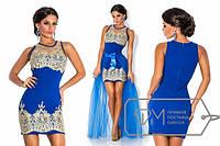 Вечернее нарядное платье со съемной юбкой фатин Размеры: S,M,L