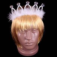 Корона Снежинки с пухом