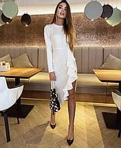 Вечернее женское платье с длинным рукавом и рюшей ft-513, фото 3