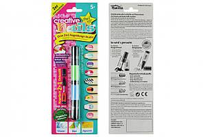 Детский лак-карандаш для ногтей Malinos Creative Nails на водной основе (2 цвета зелёный + голубой)