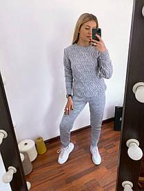 Спортивные вязанные штаны женские