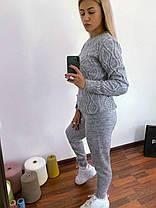 Спортивные вязанные штаны женские, фото 3