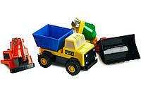 Детский конструктор Popular Playthings машинка (бетономешалка, грузовик, бульдозер, экскаватор), фото 1