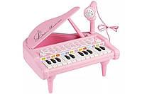 """Детское пианино синтезатор Baoli """"Маленький музикант"""" с микрофоном 24 клавиши (розовый), фото 1"""