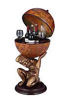 """Глобус бар напольный """"Atlas""""- коричневый 42*42*85 см  42016R-GR"""