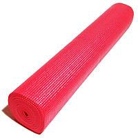 Профессиональный коврик для йоги, фитнеса и аэробики 1730×610×4мм, цвет красный! Акция