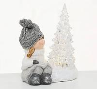 Ночник LED ребенок h14см керамика  1017916